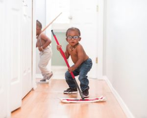 Canva Young Boys Cleaning at Home
